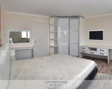 Фото спальни в белом глянце