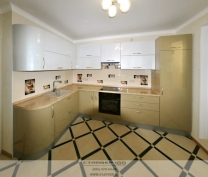 Кухня Горчица и Хрустальный металлик.Фото