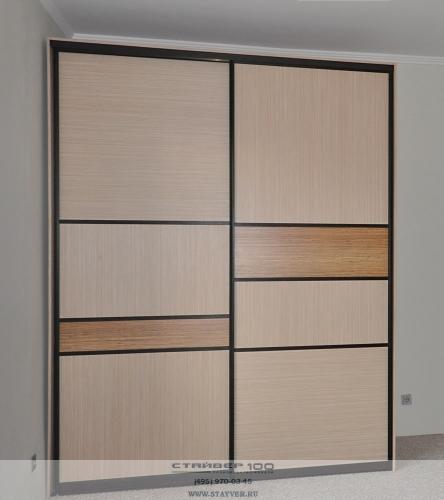 шкаф купе 2200 с комбинированными дверьми