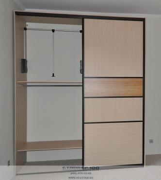 Шкаф-купе 2200 зебрано песочный шкафы-купе мебельная фабрика.