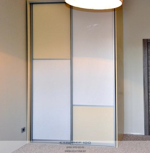 Двухдверный шкаф Белый и ваниль фото.