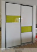 Шкаф-купе 2015 Белый лак и желтый оракал