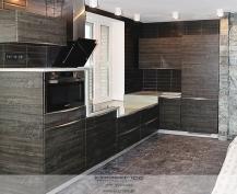 Кухня Манзолия черная