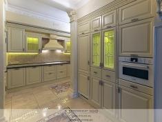 Кухня из массива дуба в итальянском стиле