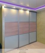 Шкаф-купе со вставками Акация лэйк лэнд и стеклом