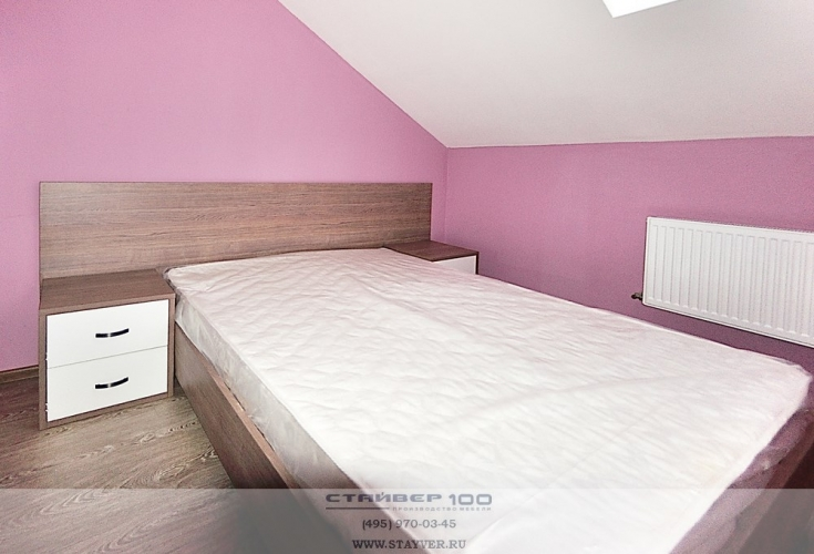 Светлая спальня  Дуб шато