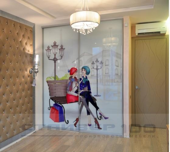 Шкаф-купе с фотопечатью Девушки в Париже
