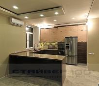 П-образная кухня Сосна авола и серая лиственница