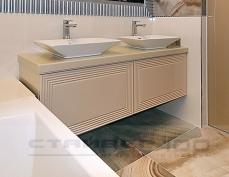 Мебель для ванной с двумя раковинами