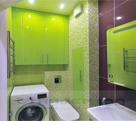 Шкафы для ванной Лайм глянец