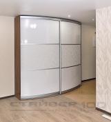 Радиусный шкаф  Lucida и Белая шелкография