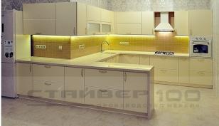 Большая кухня Мираж жемчуг