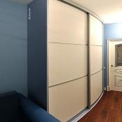 Радиусный шкаф  Голубой горизонт
