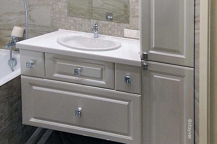 Мебель для ванной Шампань шагрень