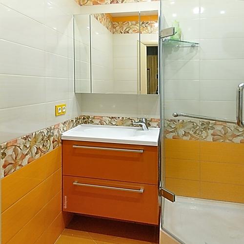 Мебель для ванной Оранжевый металлик