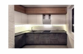 Кухня с тремя видами фасадов