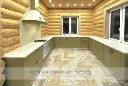 Кухня в деревянный дом