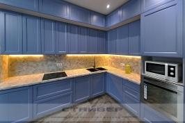 Кухня синего цвета  RAL 5014 Pigeon blue