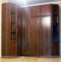 Шкаф для гостиной МДФ рамка орех. Фото