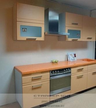 Кухня персикого цвета фото