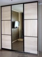 Шкаф-купе шкаф-купе беленый дуб+ зеркало. Фото