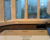 Кухня модерн на балконе. Вид 2