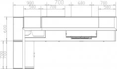 размеры кухни №145