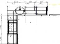 размеры кухни 153