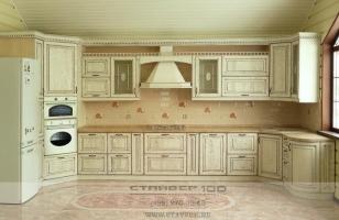 кухня слоновая кость с патиной фото.
