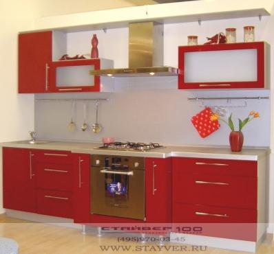 Кухня красная глянцевая фото