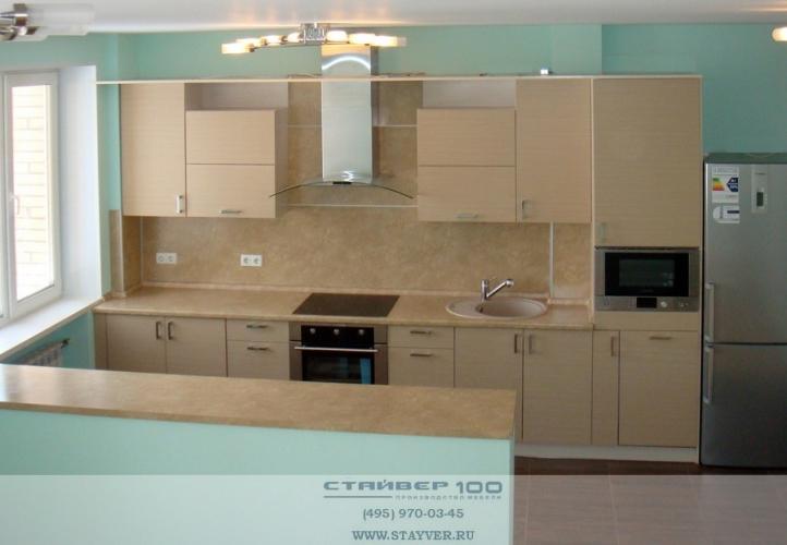 Современная кухня Лен светлый. Фото