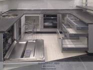 Кухня серый и белый металлик. Наполнение.