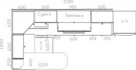 Размеры кухни 206