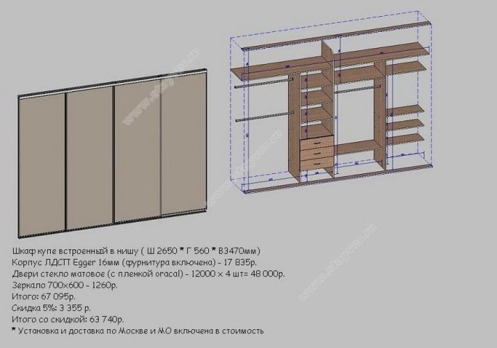 Встроенный шкаф купе своими руками из чего сделать
