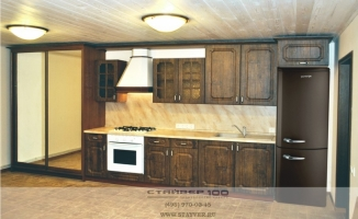 Кухня со шкафом купе