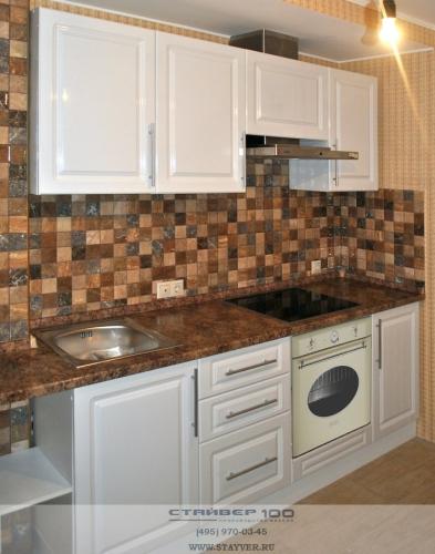 Белая кухня МДФ с классической фрезеровкой