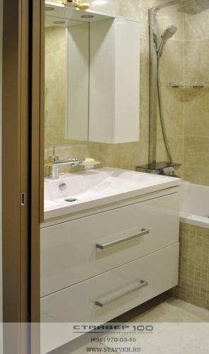 Мебель для ванной 90 см. Фото