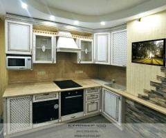 Кухня массив белая фото.