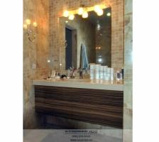 Мебель для ванной Зебрано глянец. Фото