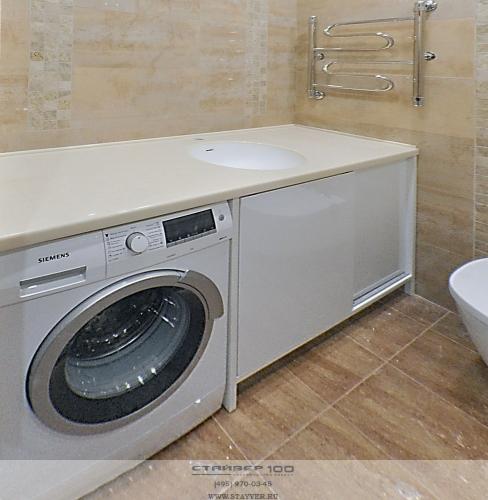 тумба в ванную комнату под стиральную машину