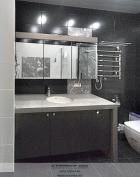 Мебель для ванной с зеркалом. Фото