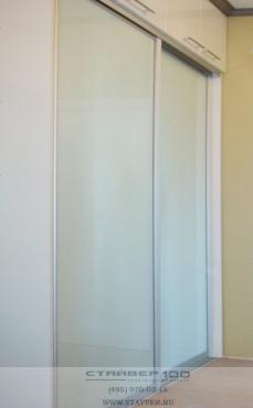 Встроенный шкаф купе узкий