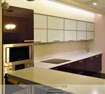 Фото кухни Баклажан глянец