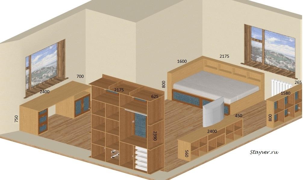 Дизайн проект комнаты подростка мальчика