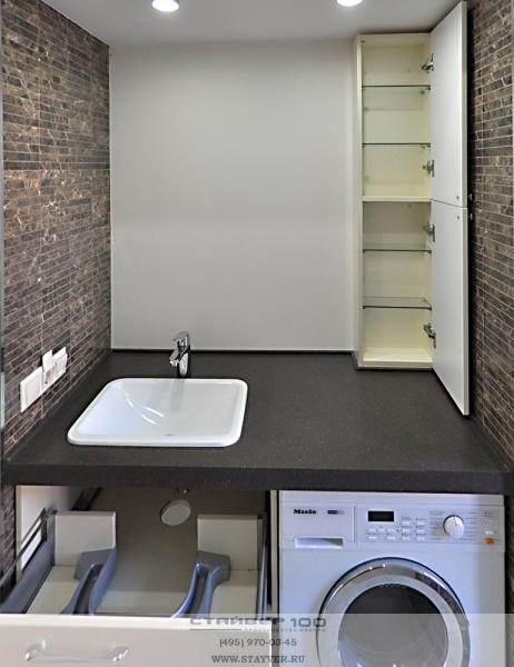Мебель для ванной из МДФ фото