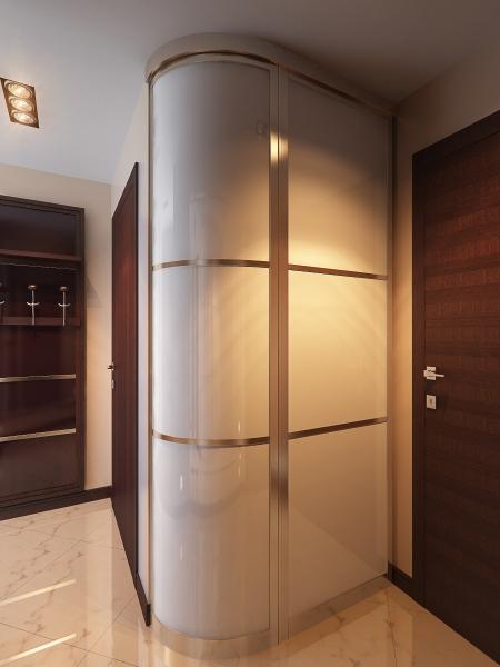 Радиусный выпуклый шкаф с распашными дверями мебельная фабри.