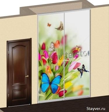 Дизайн проект шкафа купе с фотопечатью