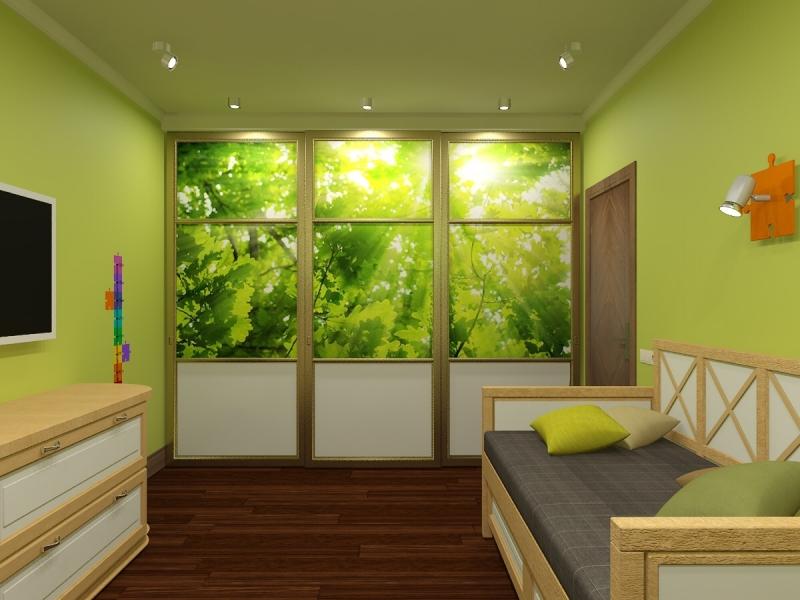 Проект дизайнера Буцеровой Олеси: шкаф купе с фотопечатью в детскую комнату