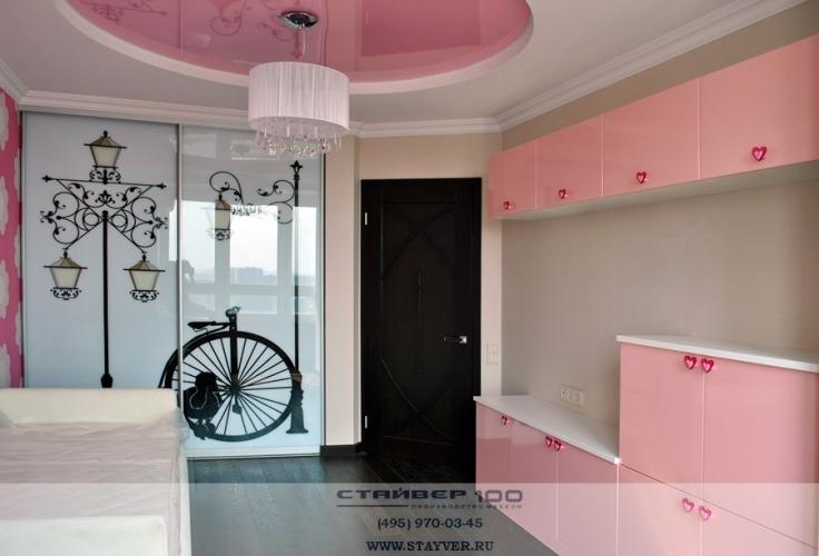 Фото детской мебели из розового МДФ