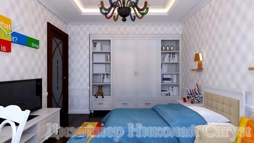 Эскиз шкафа в комнату для мальчика